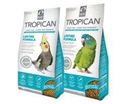 Tropimix per piccoli pappagalli è un mix di cibo intero di prima qualità composto da cereali esotici