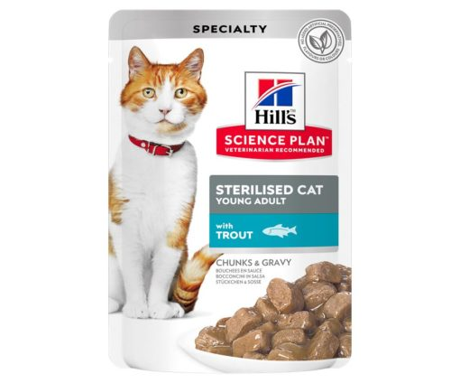 Hill's science plan feline sterilized young adult trota 85 g.