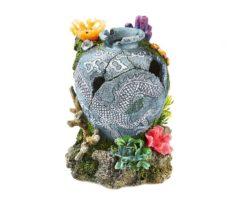 Anfora Con Coralli E Piante Cm 15