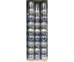 Tubo 9 sfere plastica cm 6 azzurro (3 lucide+3 opache+3 glitter).