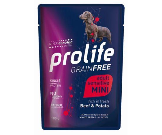 Prolife Dog Grainfree Sensitive Beef & Potato 100 G.