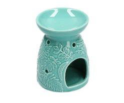 Bruciaessenze Ceramica Blu Decori Felcetondo Cm 9