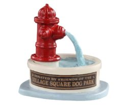 Lemax Dog Park Water Fountain.